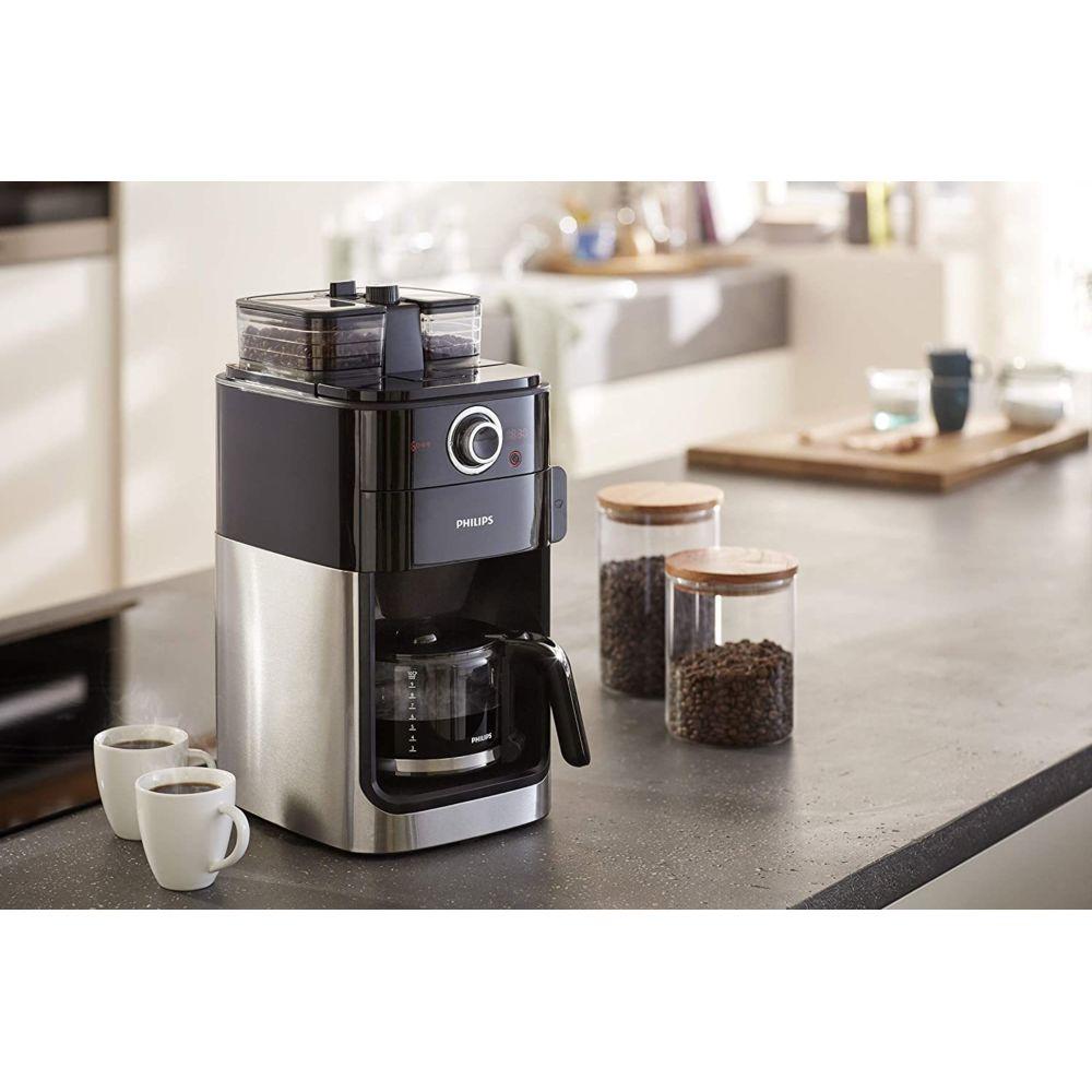 Philips Machine à café de 1,2L avec broyeur intégré 1000W gris noir