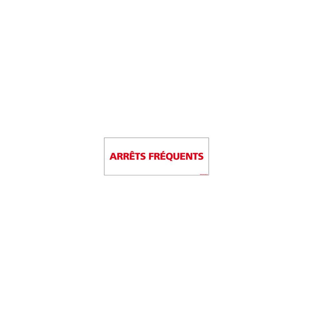 Signaletique Biz Adhésif Magnétique - Arrêts Fréquents - Dimensions 1000x300 mm - Blanc - Protection Anti-UV