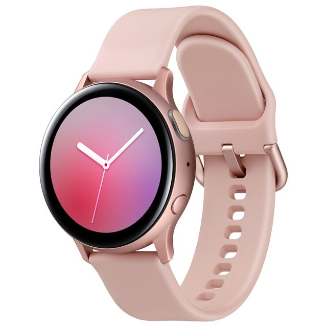 Samsung - Galaxy Watch Active 2 - 4G - 40mm - Alu Rose - Bracelet Rose velours - Montres et bracelets Samsung Galaxy