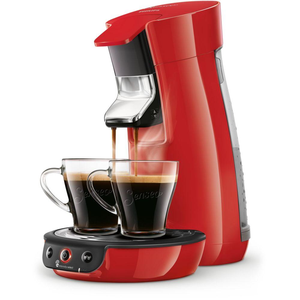 Philips Senseo Viva Café HD6563/80 machine à café Autonome Cafetière à dosette Rouge 0,9 L 6 tasses Entièrement automatique