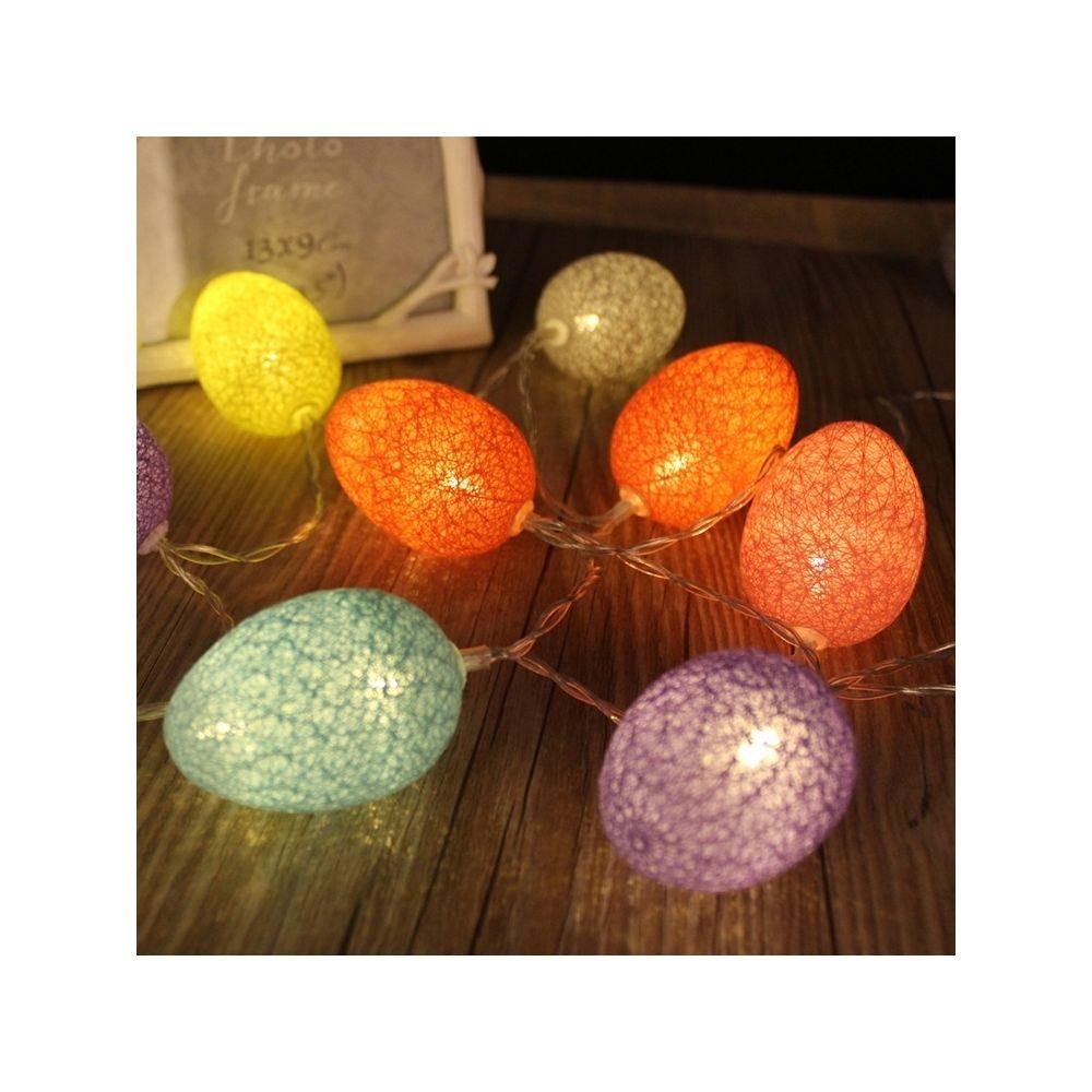 Wewoo Guirlande LED Type de batterie 3.2m 20 LEDs Coton Couleur Fil Egg Lamp String String Vacances Pâques Fête Ménage Lumière