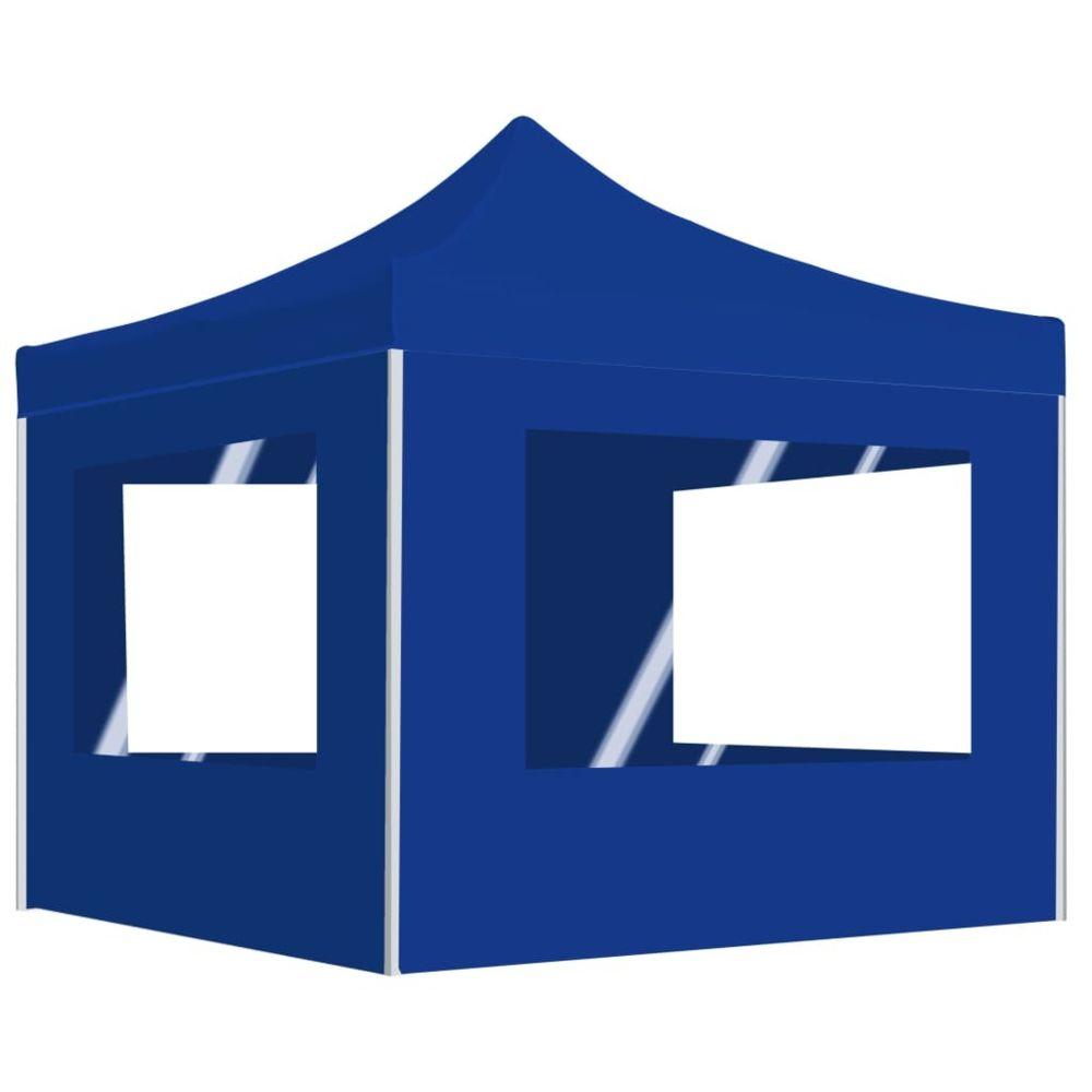 Vidaxl vidaXL Tente de Réception Pliable avec Parois 3x3 m Bleu Pavillon Chapiteau