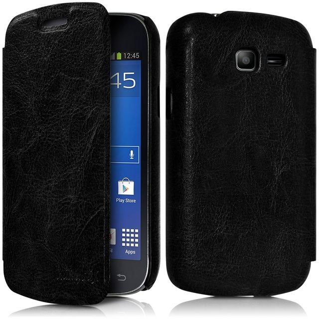 Housse Coque Etui à rabat latéral Couleur Noir pour Samsung Galaxy Trend Lite(...)