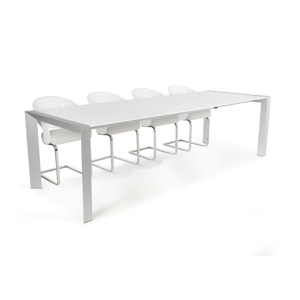 Alterego Table à dîner extensible 'TITAN' design blanche - 190(270)x95 cm