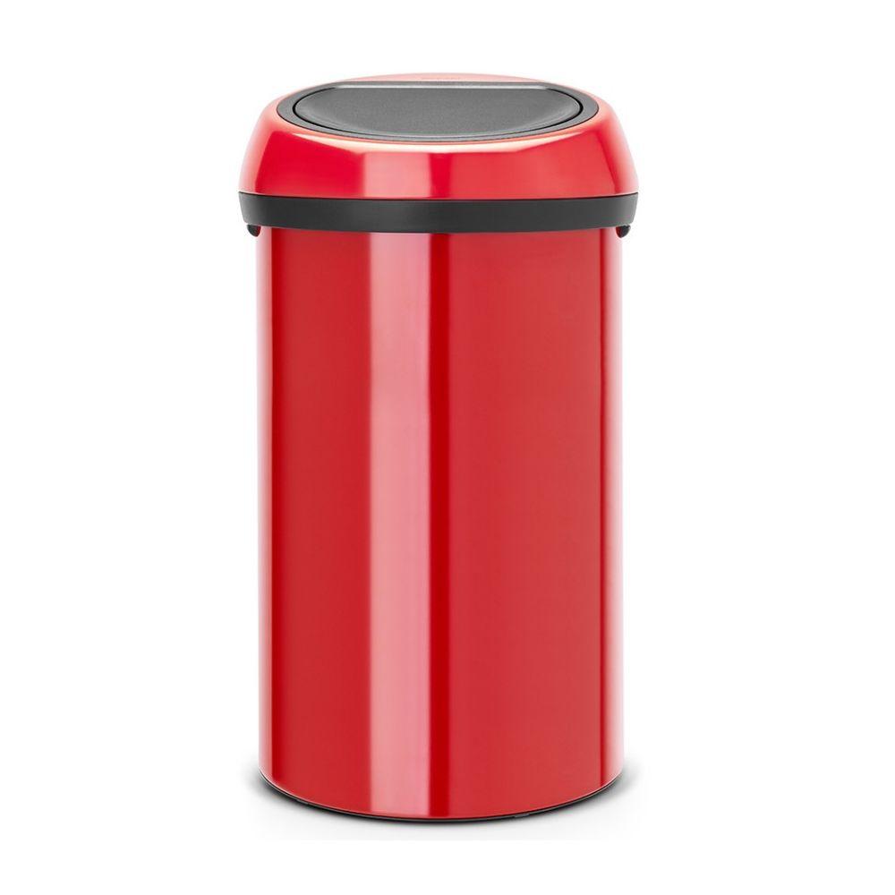 BRABANTIA brabantia - poubelle de cuisine 60l rouge - 402487