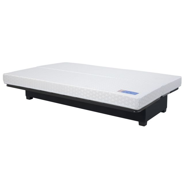 Relaxima Banquette Clic-Clac 130 OTTAWA pearl rouge - matelas Dunlopillo