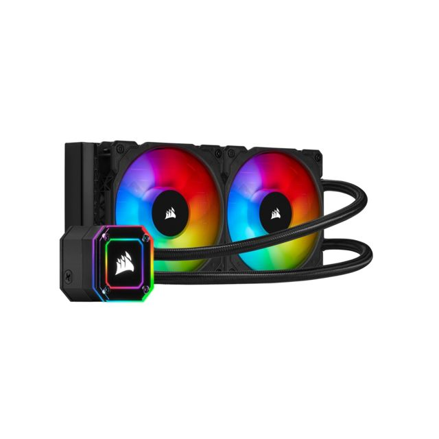 Corsair -icue H100i Elite Capellix - 240 mm Corsair  - Bonnes affaires Watercooling
