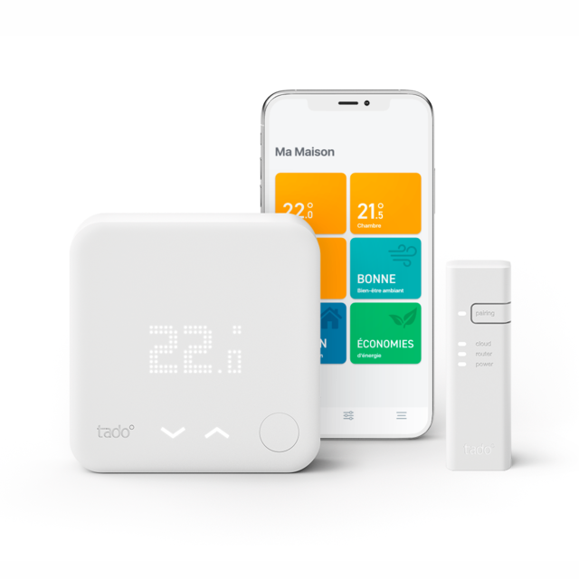 Tado - Kit de démarrage V3+ - Thermostat Intelligent + Bridge Internet