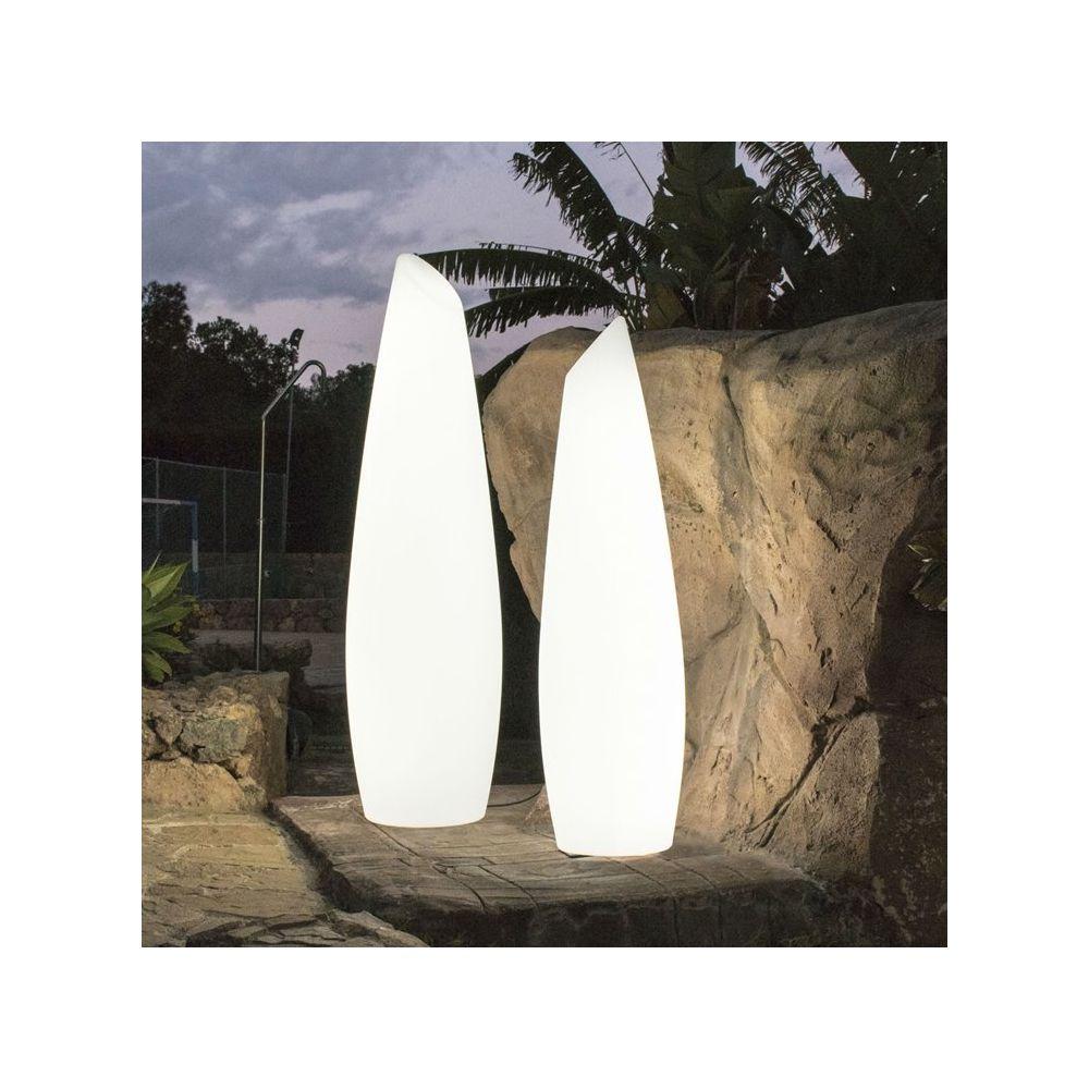 New Garden FREDO-Lampadaire d'extérieur LED avec câble H170cm Blanc New Garden