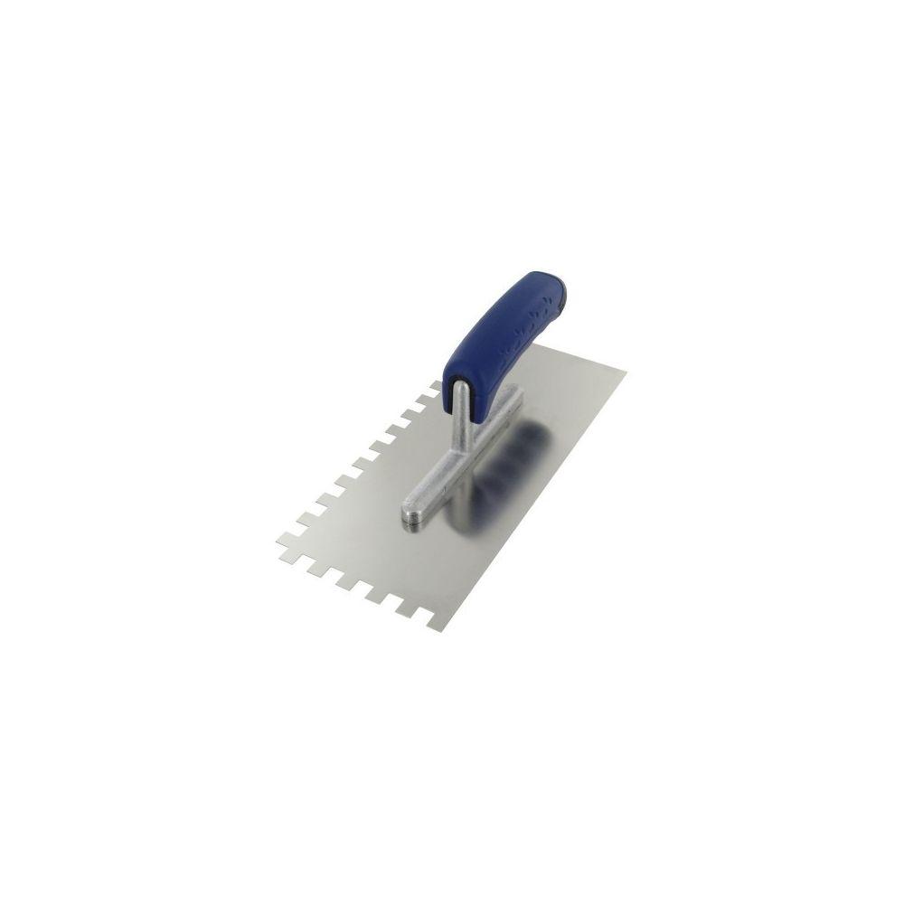 Outibat Platoir lame acier inoxydable dentée sur deux cotés ls denture de 10 x 10