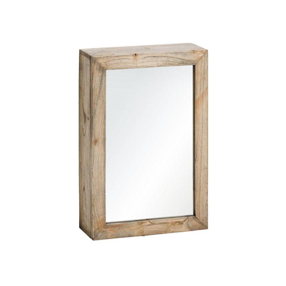 Tousmesmeubles Armoire miroir en bois naturel Taille S - MIKTO