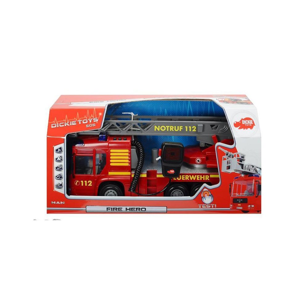 Dickie Dickie 203716003 Fire Hero - Camion de pompier 43 cm