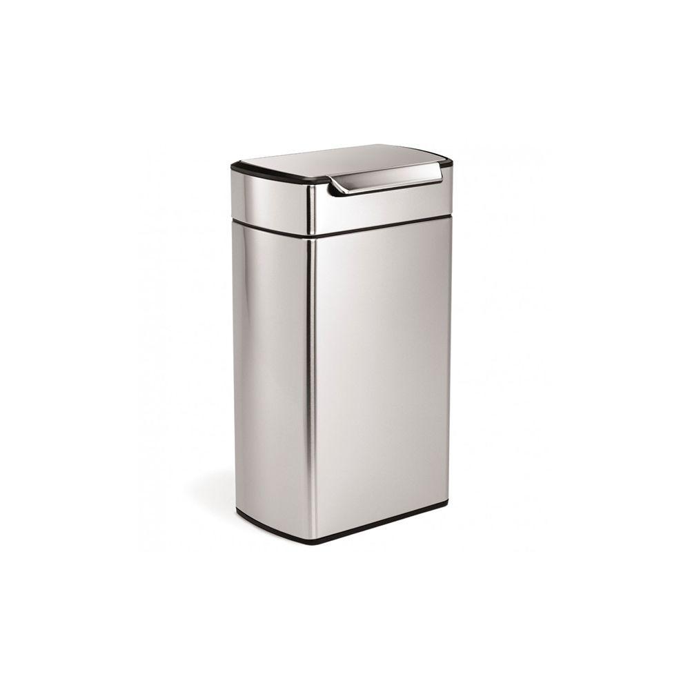 Simplehuman simplehuman - poubelle rectangulaire à touch-bar 40l inox - cw2014