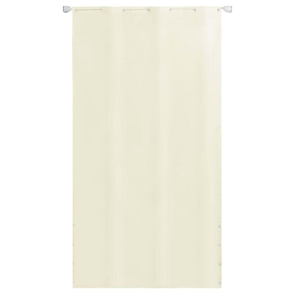 Vidaxl Écran de balcon en tissu Oxford 140 x 240 cm Crème - Pelouses et jardins - Vie en extérieur - Parasols et voiles d'ombra