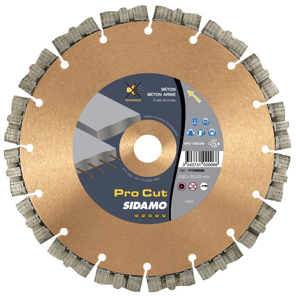 Sidamo Disque Diamant à segment 230 mm PRO CUT Tronçonnage Béton SIDAMO