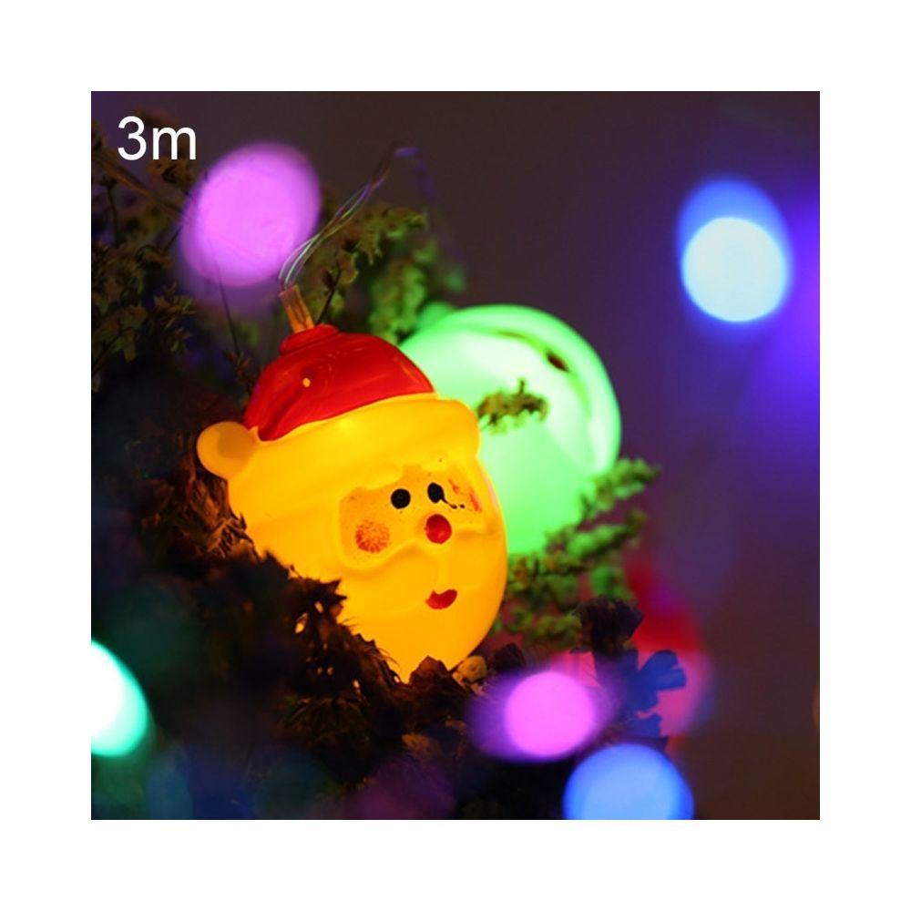 Wewoo Guirlande LED 3m père Noël lumière de chaîne vacances, 20 LEDs USB Plug lampe décoration fée chaude pour Noël, fête, cha