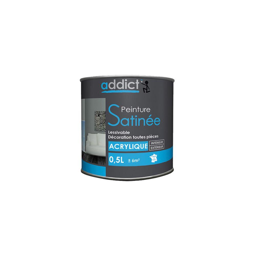 Addict Peinture acrylique de décoration Satinée 0,5 L - Blanc - ADD111265 - Addict