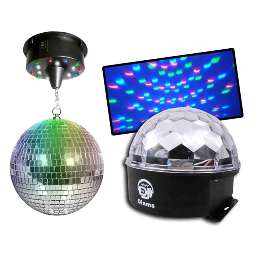 Disco Pro Pack 2 effets ASTRO BALL DIAMS + BOULE LEDs 20