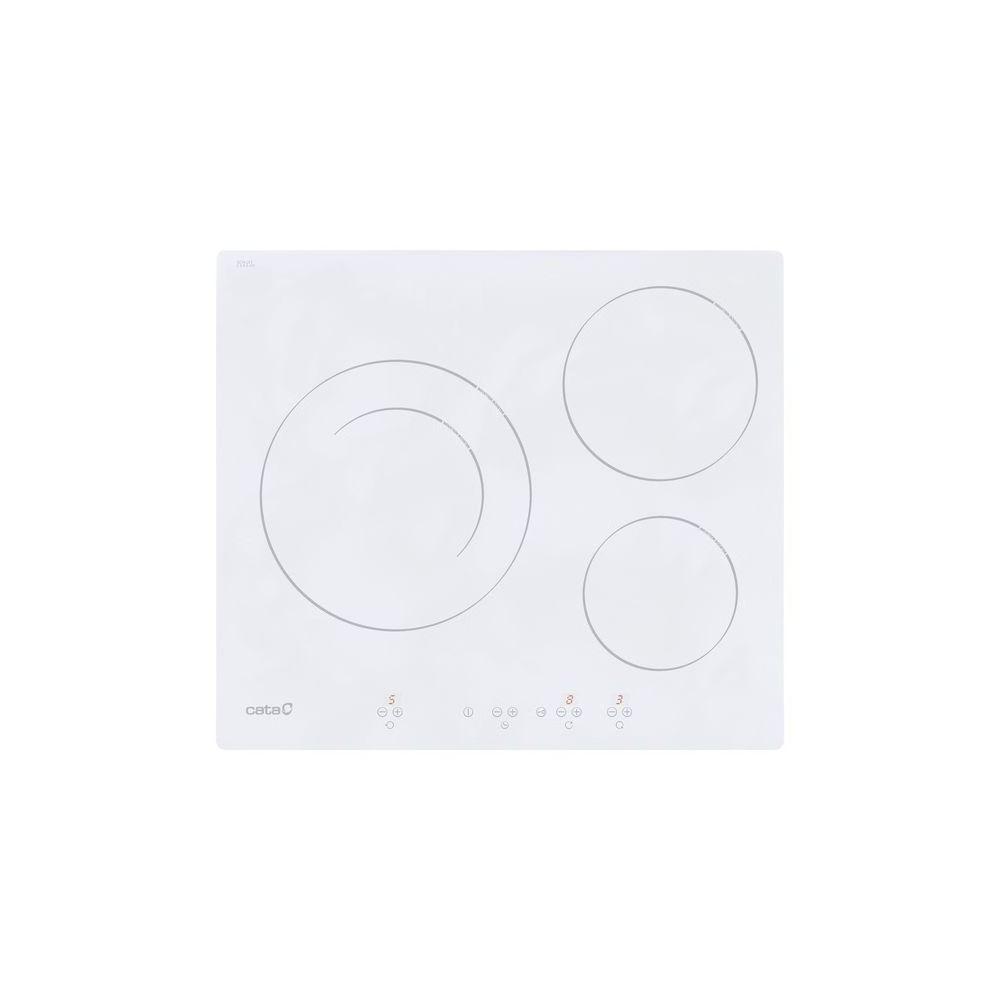 Cata Plaques vitro-céramiques Cata 8073108 60 cm (3 zones de cuisson) Blanc