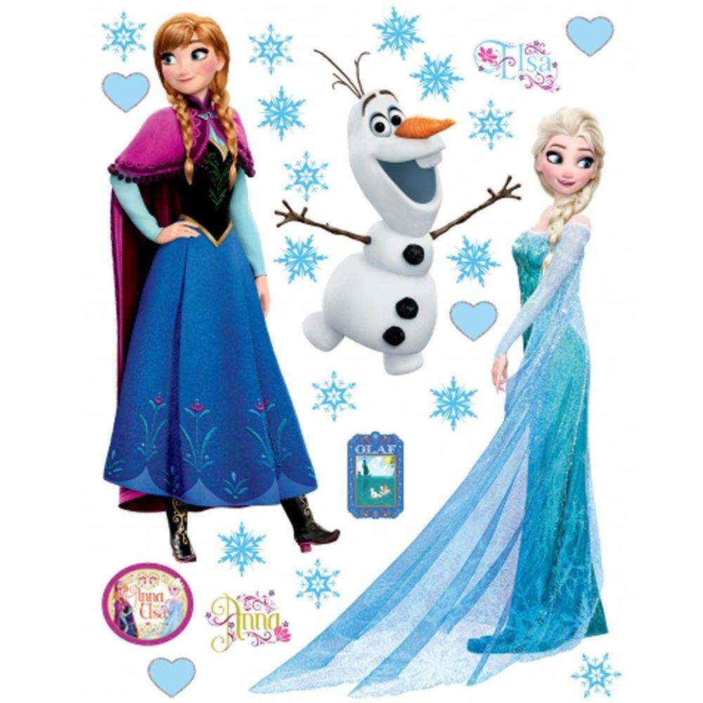 Bebe Gavroche Stickers géant Anna Elsa & Olaf La Reine des Neiges Disney