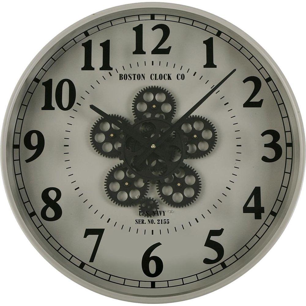 VERSA Horloge murale en métal engrenages 50 cm