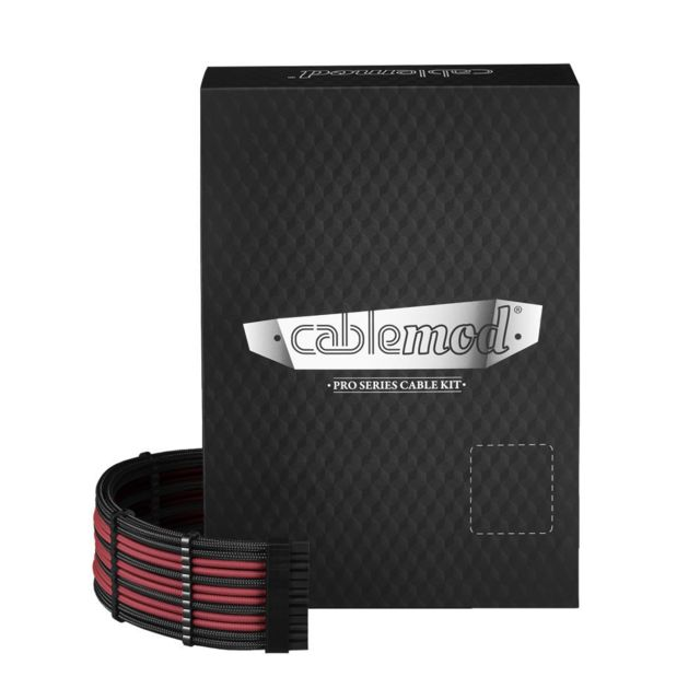 Câble tuning PC Cablemod PRO ModMesh C-Series AXi, HXi & RM Cable Kit - Noir / Sang Rouge