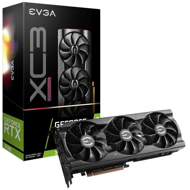 Evga - GeForce RTX 3090 XC3 ULTRA GAMING - Triple Fan - 24Go - Carte Graphique NVIDIA