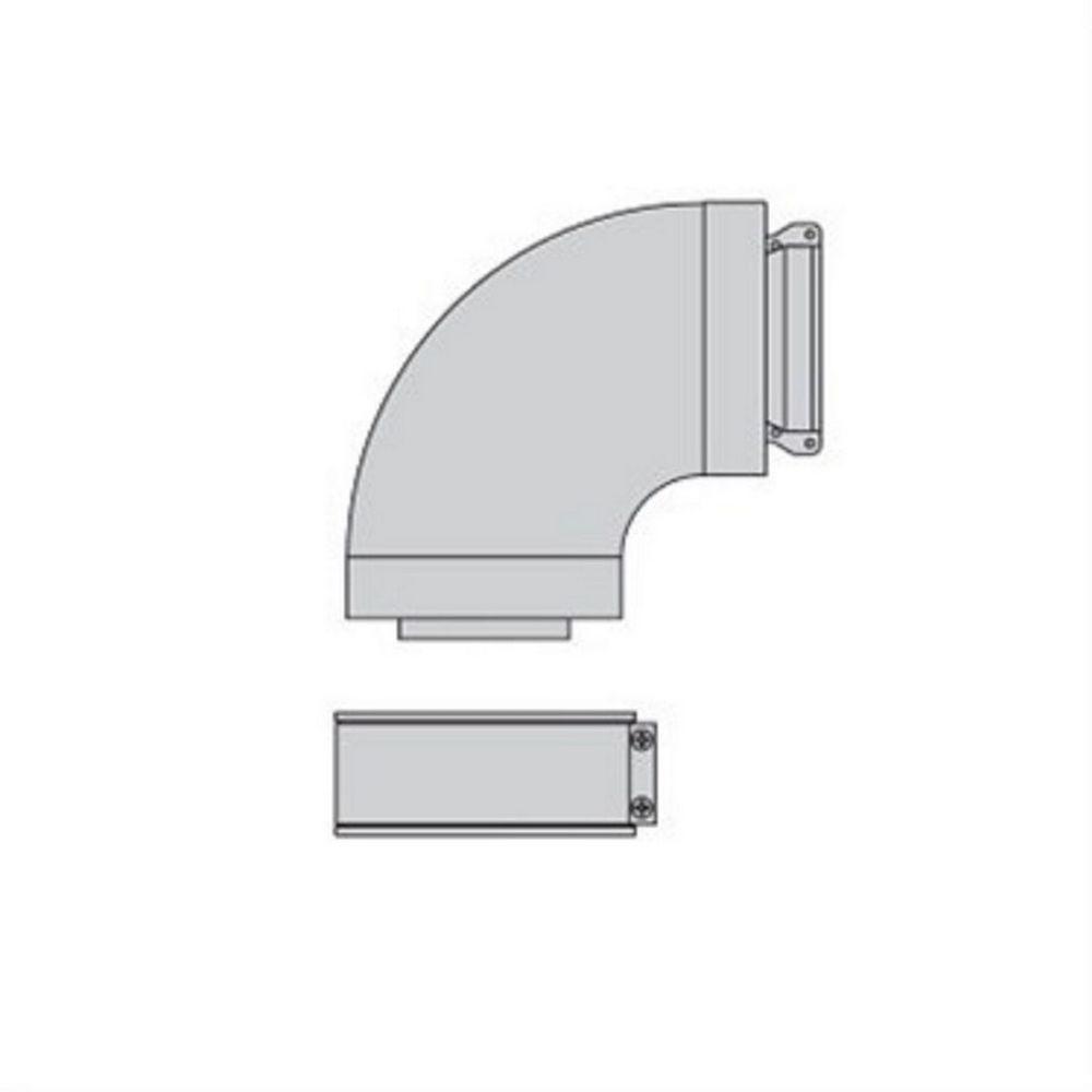 Beretta Beretta 1100089 - Coude Alu Fumisterie 90° 60/100 Standard