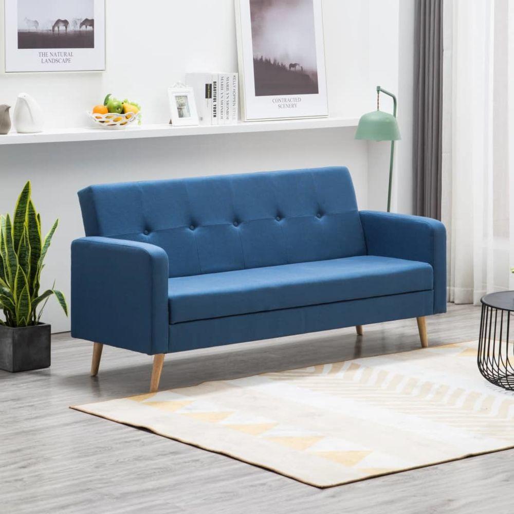 Vidaxl vidaXL Canapé Tissu Bleu