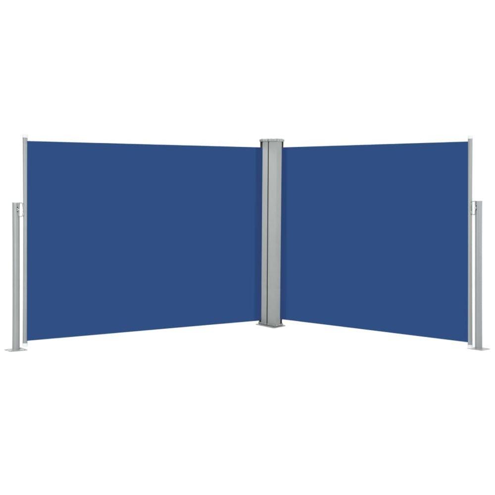 Vidaxl vidaXL Auvent latéral rétractable Bleu 170 x 1000 cm