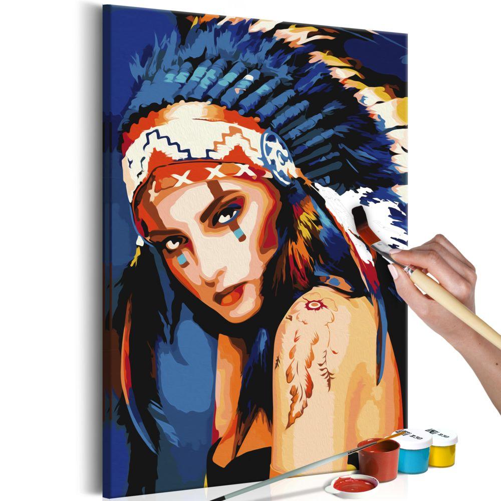 Declina Tableau à peindre par soi-même - Indienne