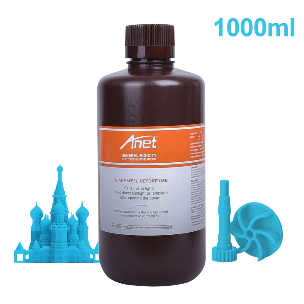 Generic Résine rapide à usage général 405 nm Résine de polymérisation photopolymère standard à faible odeur non toxique 1000 ml