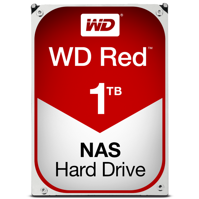 Western Digital - WD RED 1 To - 3.5'' SATA III 6 Go/s - Cache 64 Mo - Rouge - Disque Dur interne