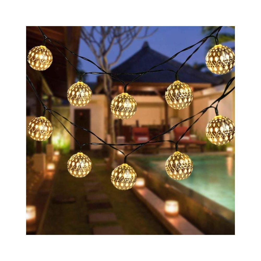 Wewoo Guirlande LED Ferronnerie creuse petite boule extérieure chaîne de lumière décoration de festival de jardin avec télécom