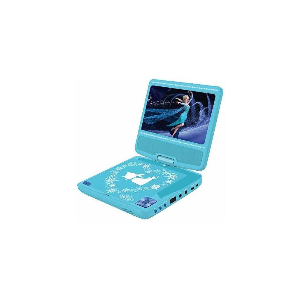 lexibook Lexibook Lecteur DVD Portable Disney, Reine des neiges, secteur ou piles, prise écouteurs, entrée line-in, bleu ciel