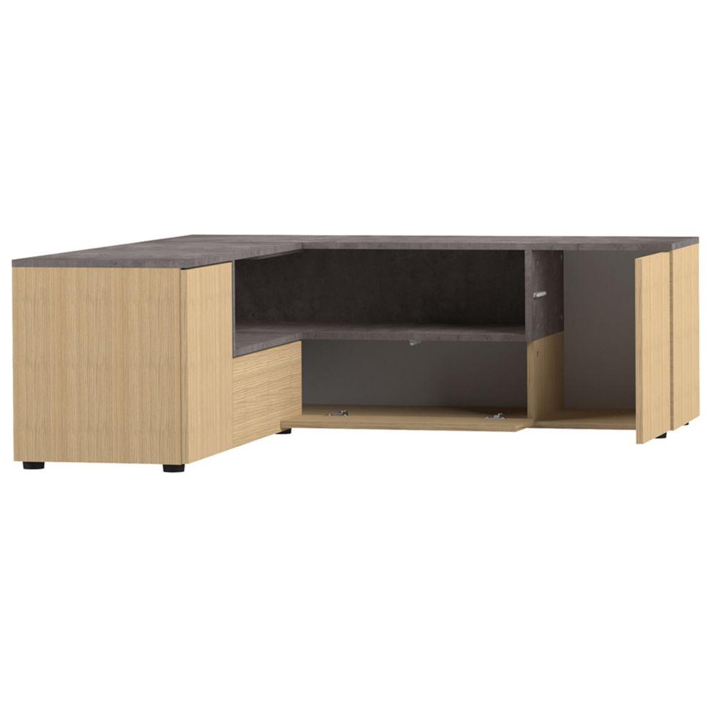 miliboo meuble tv d angle design bois