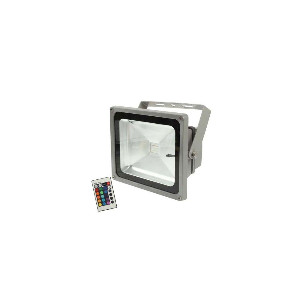 Wewoo Projecteur LED gris Lampe de de 30W de puissance élevée de RGB avec la télécommande, CA 85-265V, flux lumineux: 2200-250