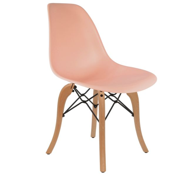 Chaise Privee - Chaise DSW (Couleur: Corail) - Marchand Chaise privee