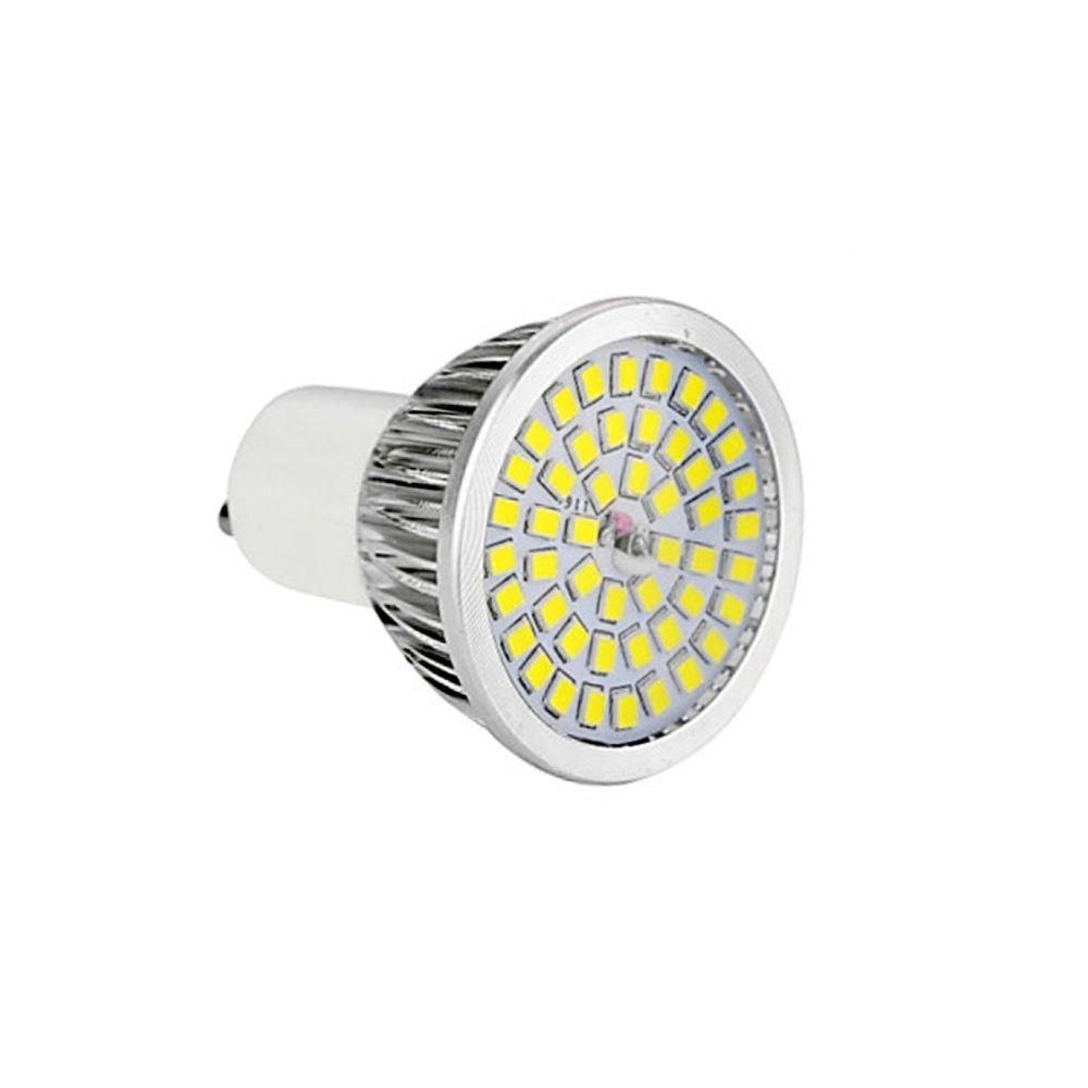 Wewoo Ampoule LED 6 PCS GU10 7W 2835SMD Projecteur de base à culot moyen standard, CA 85-265V (blanc chaud)