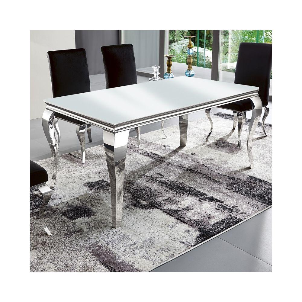 Meubler Design Table à manger design EMA - Blanc