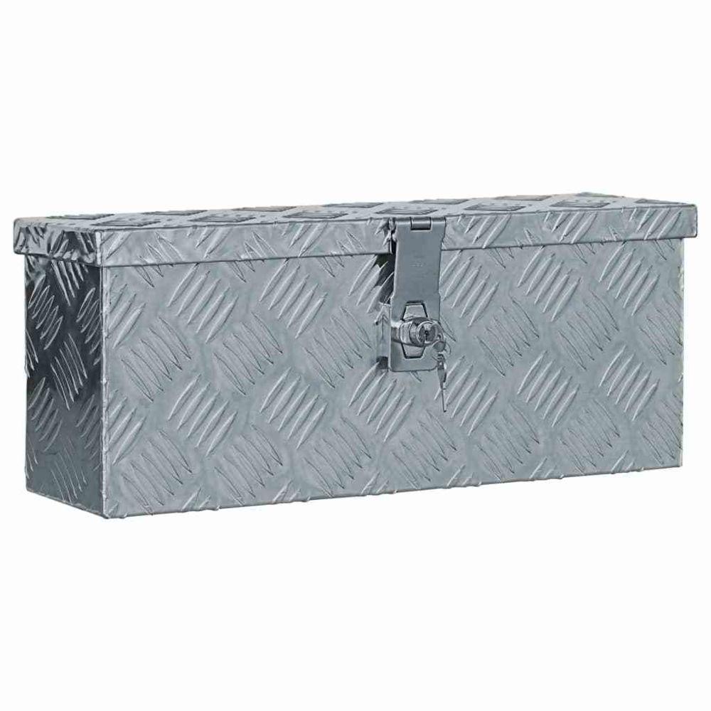 Vidaxl vidaXL Boîte en aluminium 48,5 x 14 x 20 cm Argenté