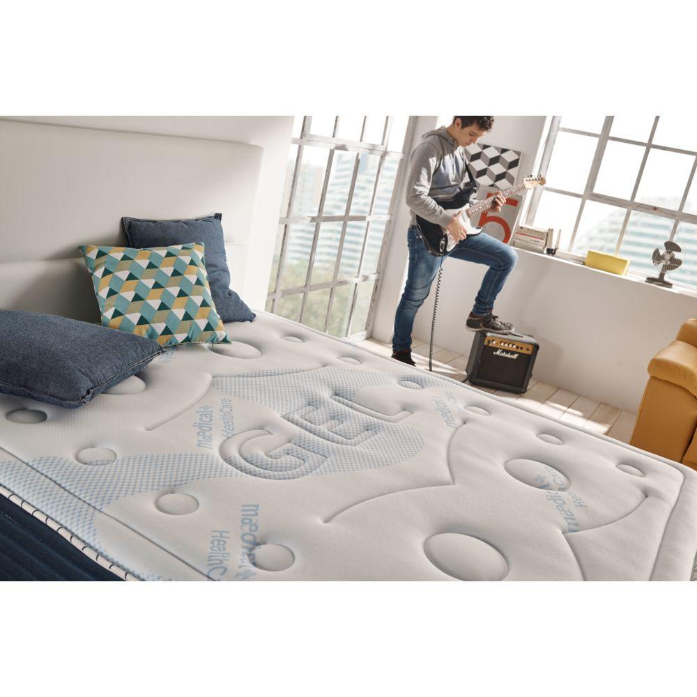 Naturalex Matelas SENSOGEL 140x190 cm en mousse de gel à mémoire Gel Fresh® - Mousse HR Aquapur® - 24 cm - Ferme