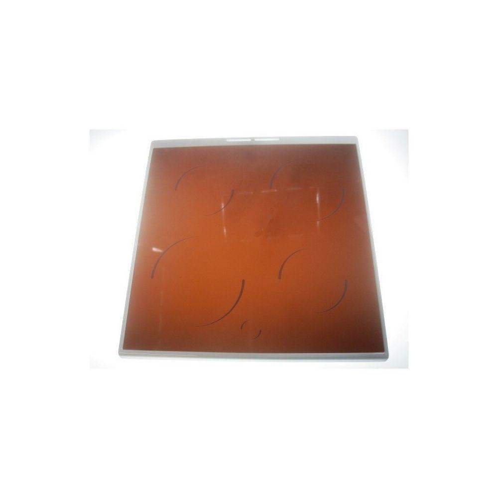 Faure Table vitroceramique encadrement blanc pour cuisiniere