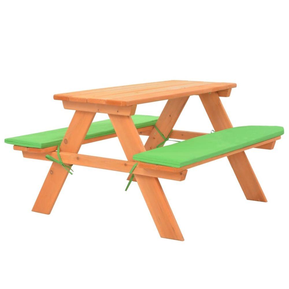 Vidaxl vidaXL Table de pique-nique pour enfants avec bancs 89x79x50 cm Sapin