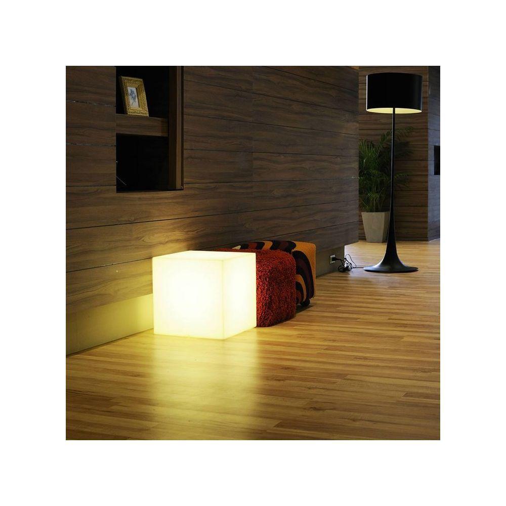 Slide CUBO-Cube lumineux d'extérieur H30cm Blanc Slide
