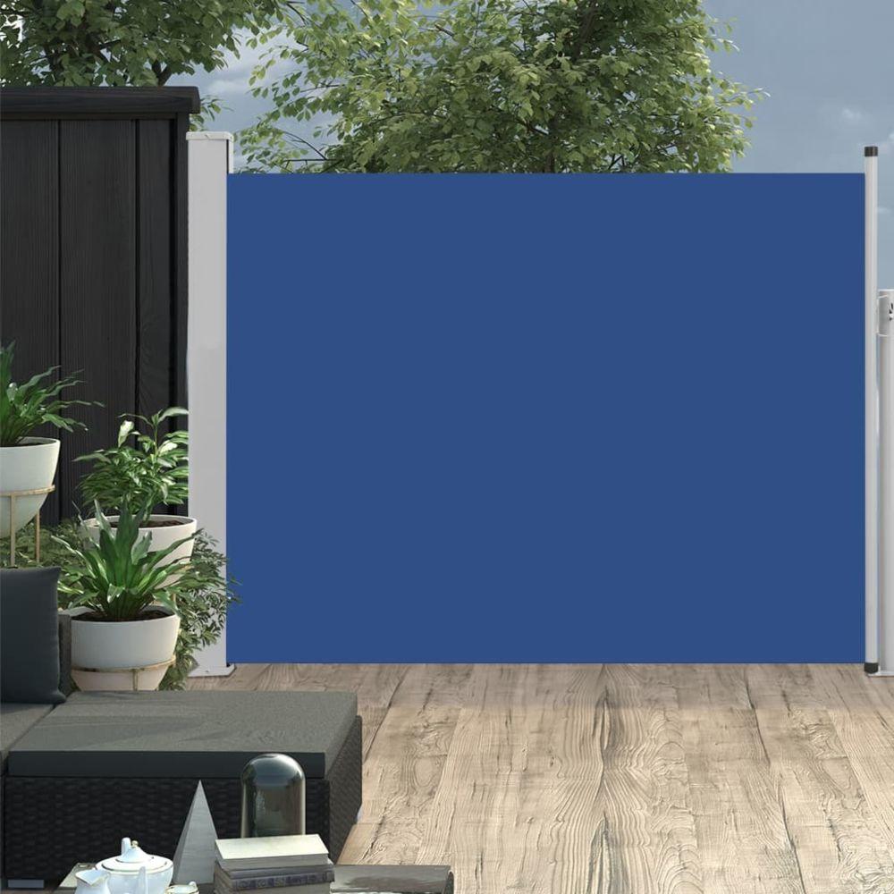 Vidaxl vidaXL Auvent latéral rétractable de patio 140x500 cm Bleu