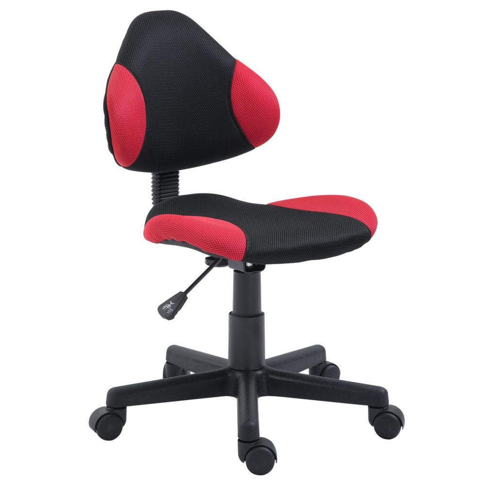 Idimex Chaise de bureau pour enfant ALONDRA, noir/rouge