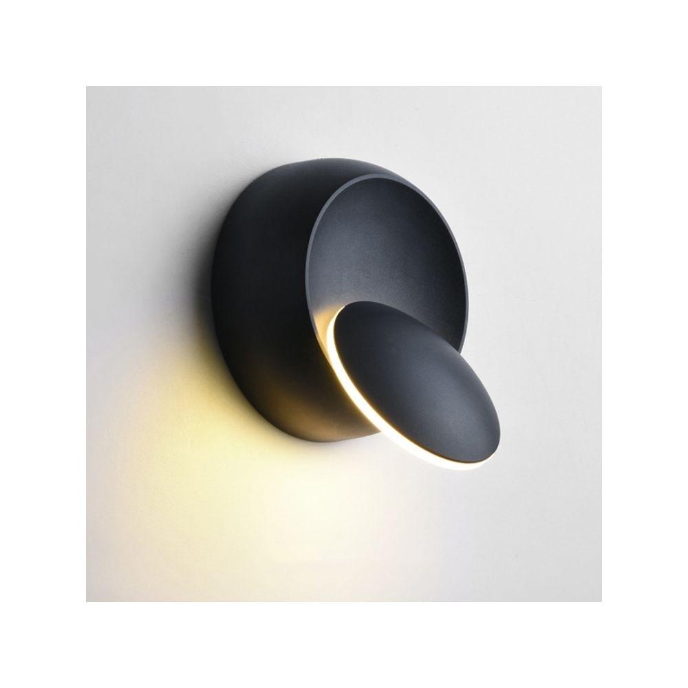 Wewoo Applique murale LED à LED, lampe de chevet réglable avec rotation à 360 degrés, blanc, noir Créative noire moderne et ro