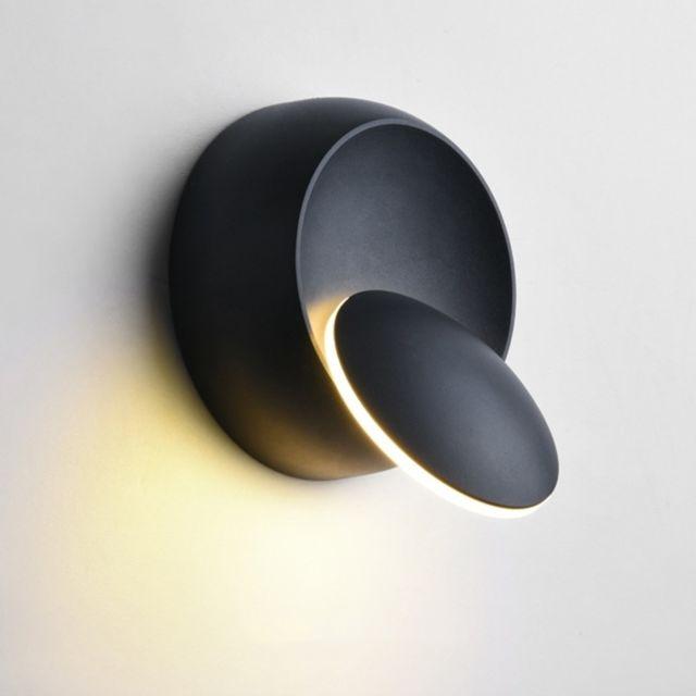 applique murale led a led lampe de chevet reglable avec rotation a 360
