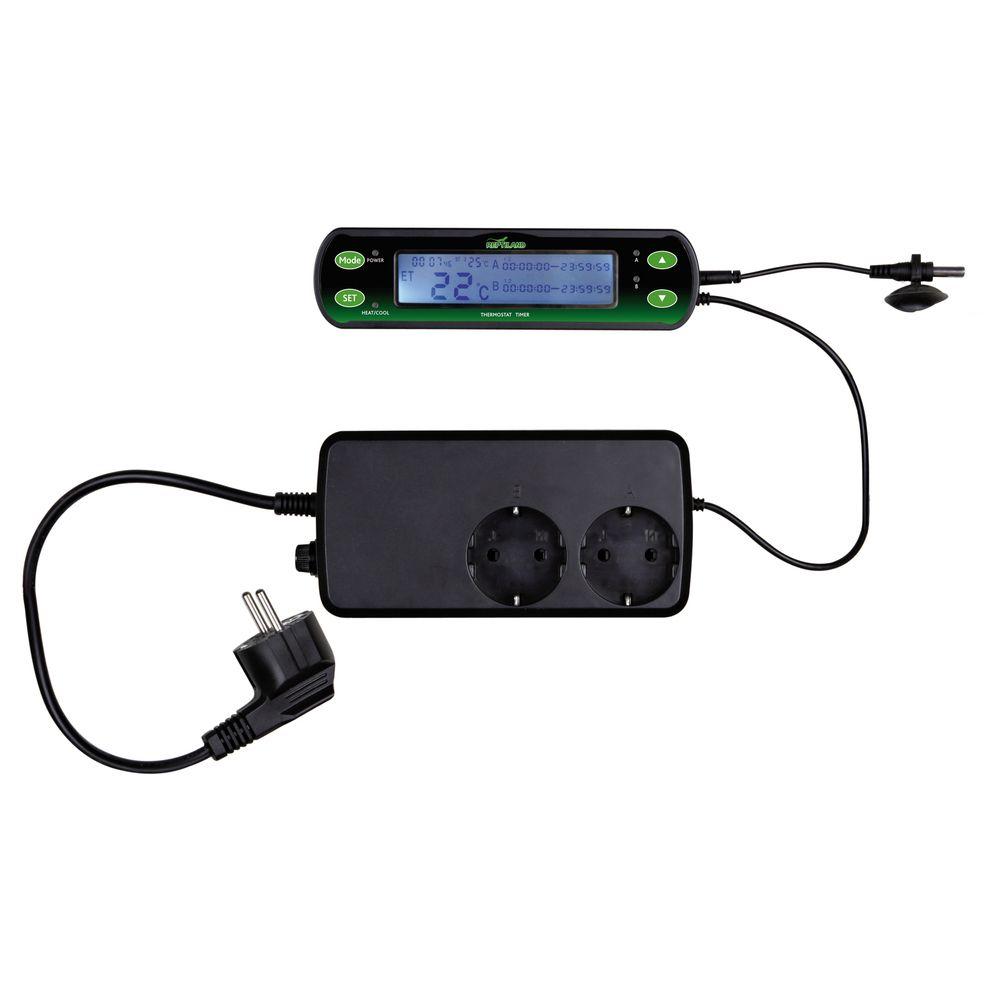 Trixie Thermostat Digital à Deux Circuits pour Terrarium - Trixie